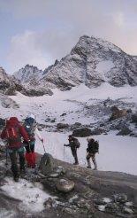 Grossglockner (3798m) - csúcsmászásunk elején